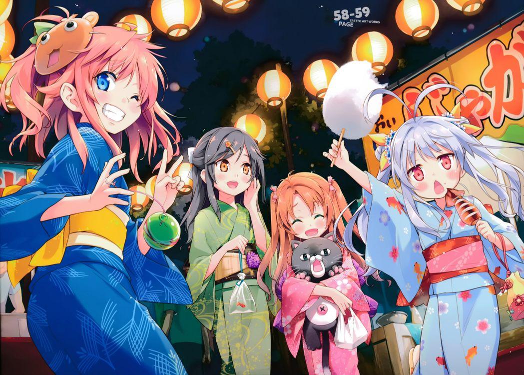 Фото фестиваль кимоно non non biyori - бесплатные картинки на Fonwall