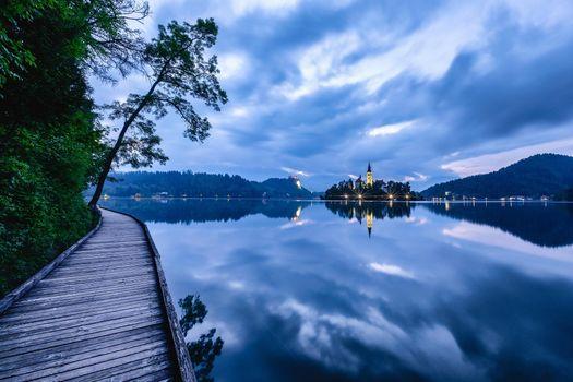 Фото бесплатно Озеро Блед, Словения, Блед Остров Блед Озеро Блед