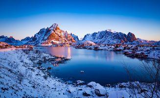Фото бесплатно горы Норвегии, Лофотенские острова, природа
