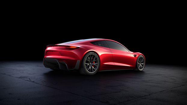 Фото бесплатно Tesla Roadster, 2018 автомобили, электромобили Тесла
