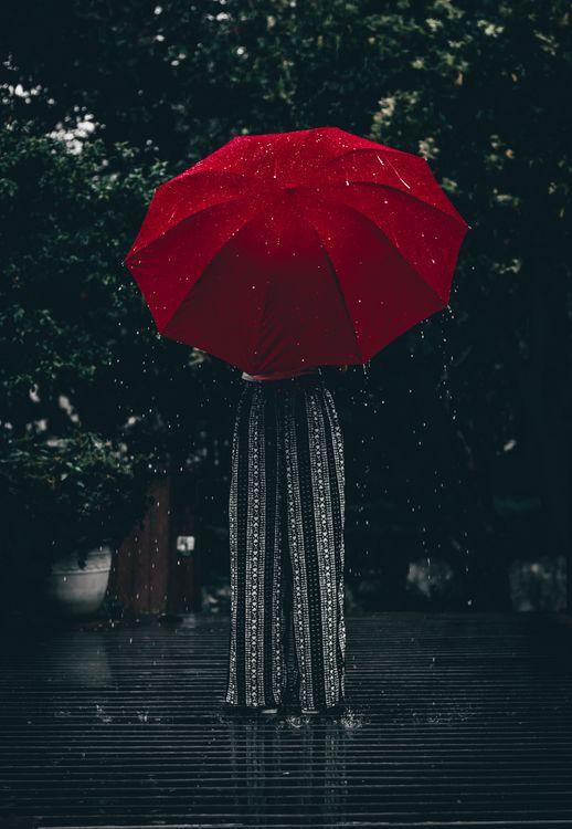 Фото бесплатно зонтик, красный, девушка - на рабочий стол