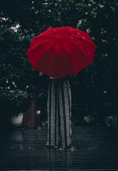 Заставки зонтик, красный, девушка
