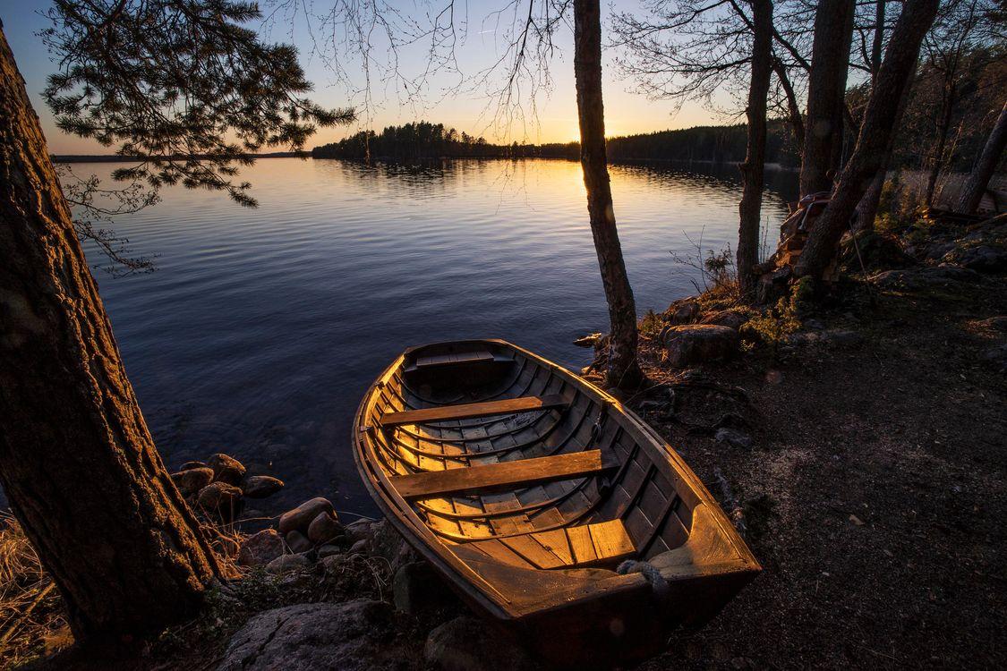 Фото озеро Финляндия небо - бесплатные картинки на Fonwall