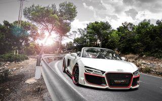 Фото бесплатно Audi R8, белый, дорога