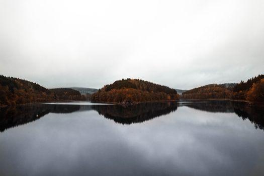Заставки Autumn, лес, Lake
