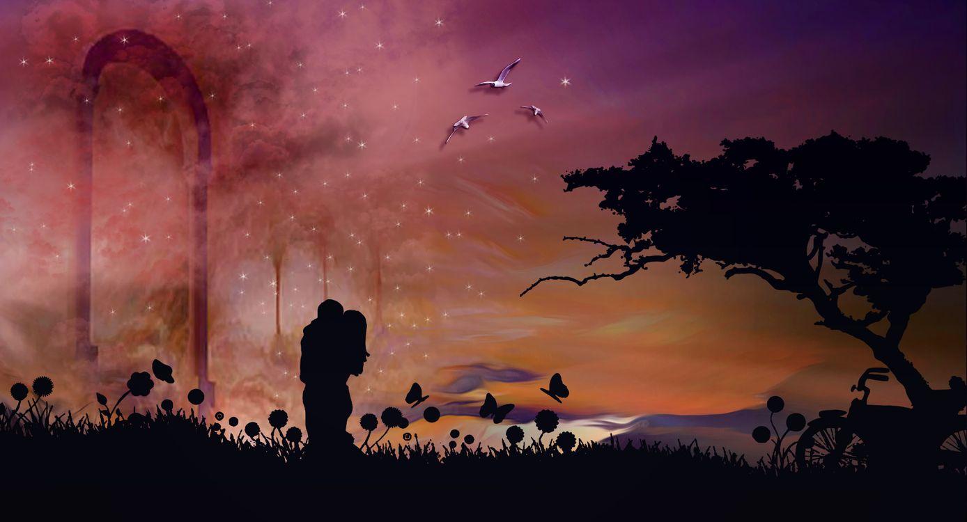 Влюбленная пара · бесплатная заставка