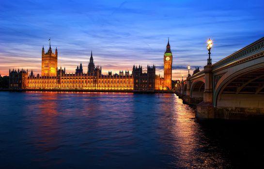 Фото бесплатно Лондон, река, мост