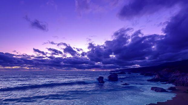 Фото бесплатно evening, sea, nature