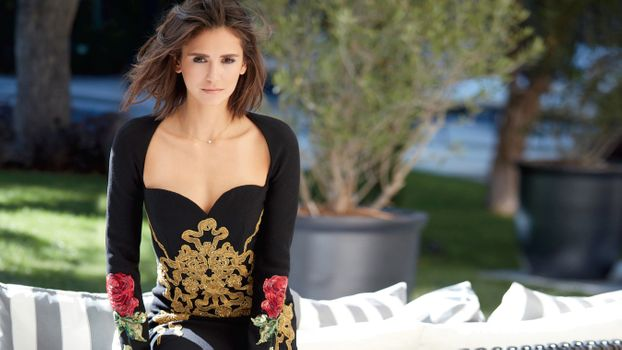 Photo free Nina Dobrev, dress, Japanese style