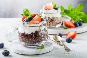 Фото бесплатно ягоды, мята, клубника