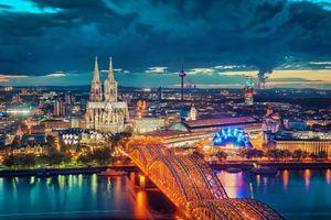 Бесплатные фото Кёльнский собор,Германия,Кёльн,мост,город,закат солнца