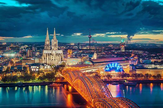 Фото бесплатно закат, Германия, город