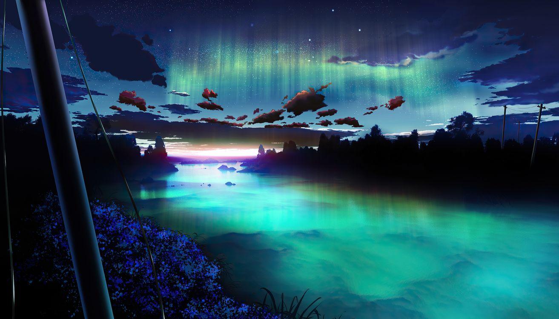 Фото художник природа северное сияние - бесплатные картинки на Fonwall