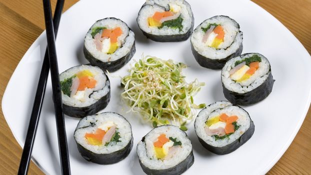 Photo free food, plate, circle