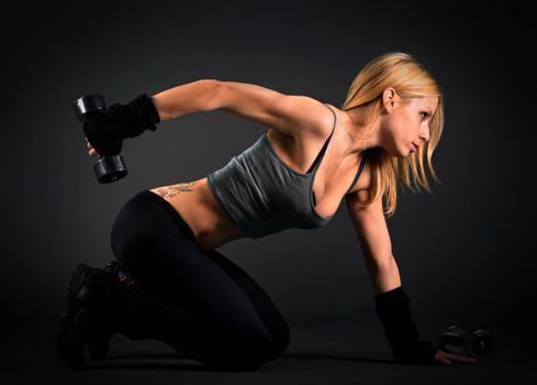 Photo free girls, blonde, workout