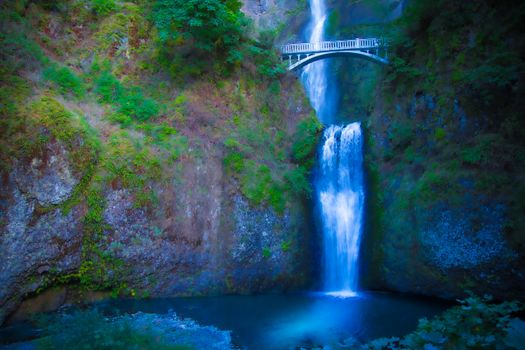 Заставки Multnomah Falls, Oregon, водопад