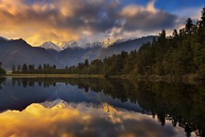 Фото бесплатно Новая Зеландия, небо, горы