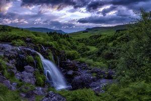 Заставки Луп Финтри, Штирлингшире, Шотландия, горы, холмы, водопад, деревья, пейзаж