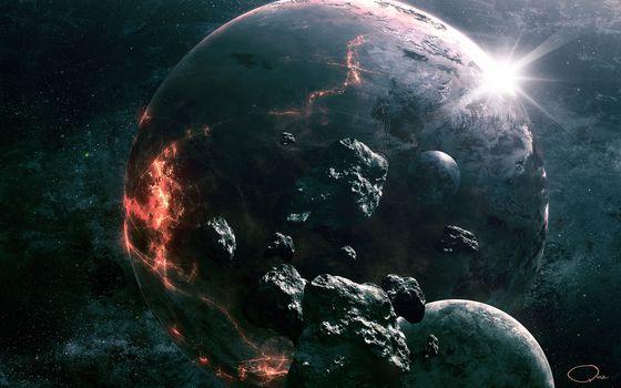 Фото бесплатно планета, уничтожения, взрыв