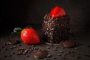 Бесплатные фото клубника,крем,шоколад,десерт,пирожное,еда,вкусно