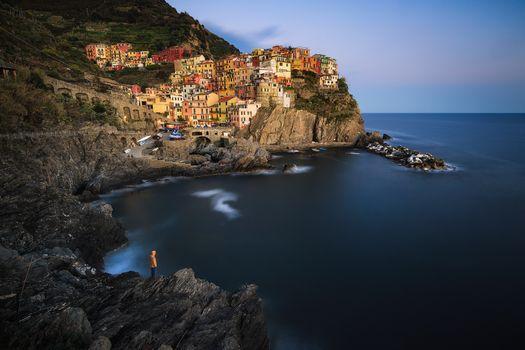 Фото бесплатно Манарола, Италия, деревня