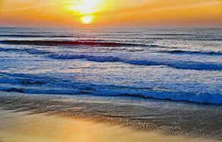 Бесплатные фото закат, море, волны, пейзаж
