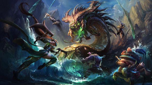 Фото бесплатно произведение искусства, league of legends, baron nashor