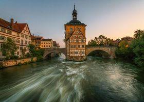 Заставки Германия,Bavaria,Историческая ратуша в Бамберге