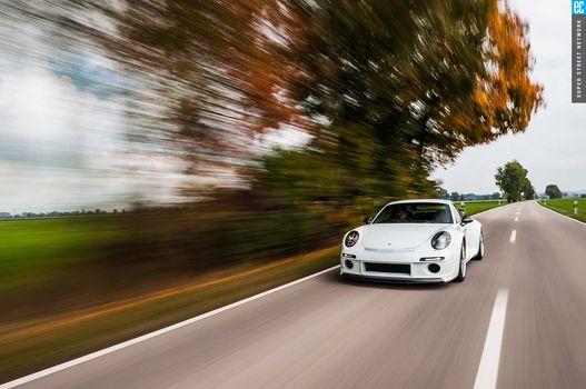 Фото бесплатно белый, Porsche 911, автомобили