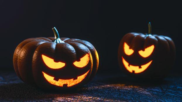 Photo free smiling, creepy pumpkins, halloween 2021