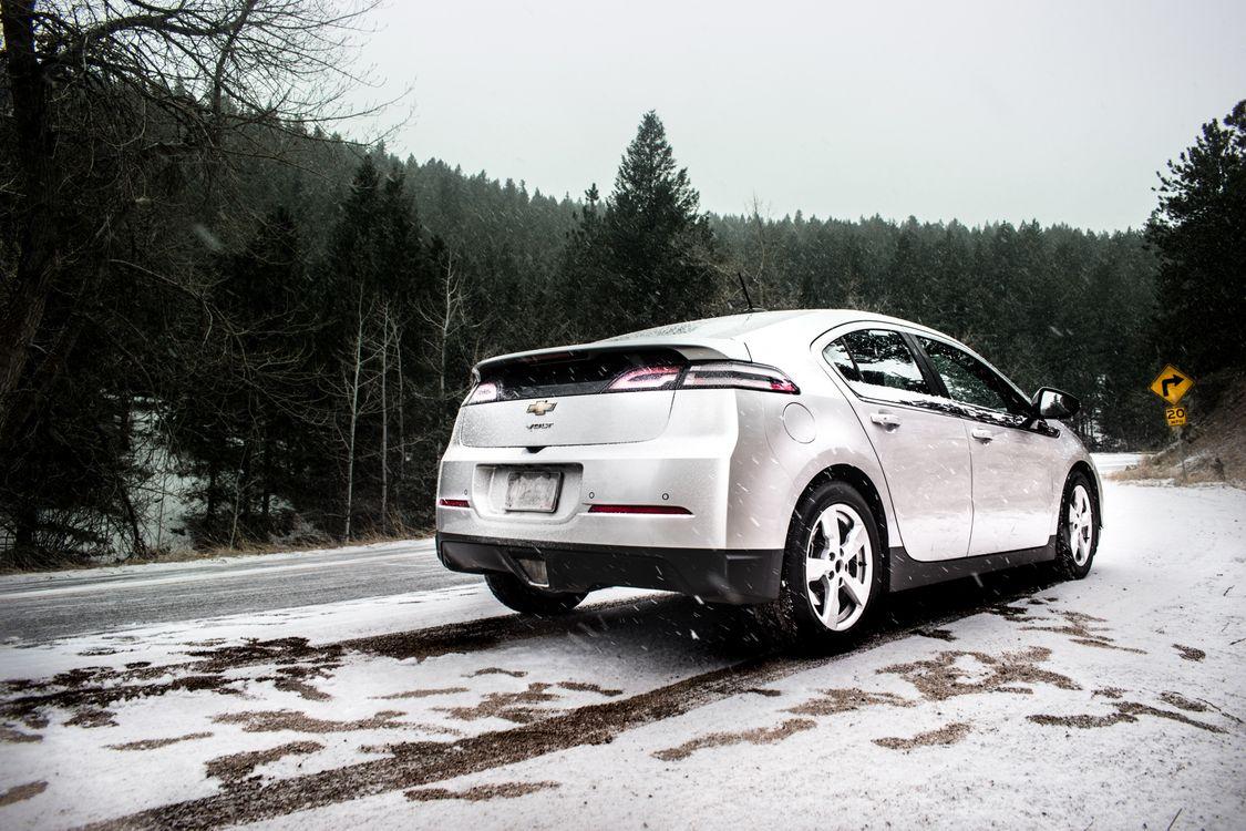 Фото бесплатно Шевроле Вольт, электромобили, снег - на рабочий стол