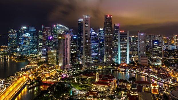 Фото бесплатно города, сингапур, мегаполиса