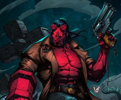 Фото бесплатно Hellboy, супергерои, художественное произведение