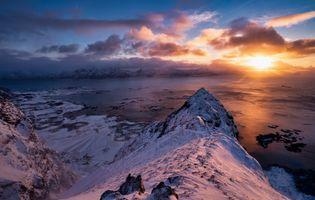 Фото бесплатно восходы и закаты, облака, горы облака