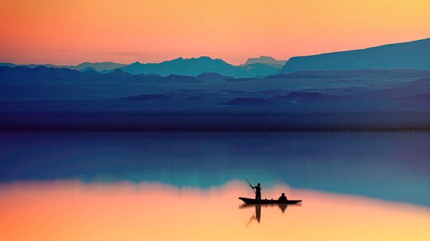 Фото бесплатно лодка, вечер, фотография