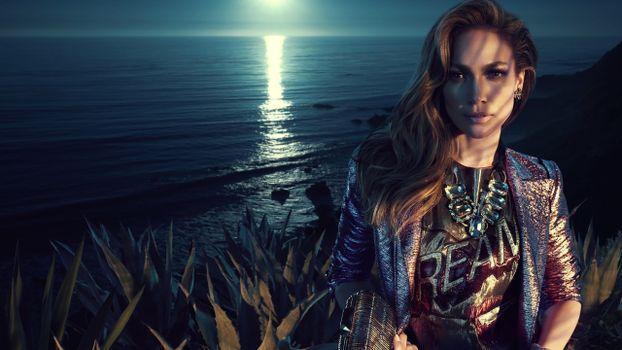 Photo free Jennifer Lopez, singer, moonlight