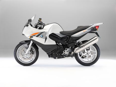Photo free side, silver colored, motorcycles side