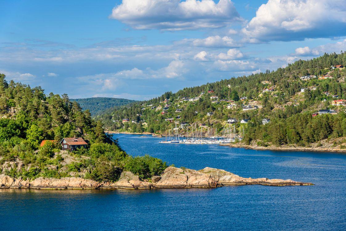 Обои Осло-фьорд, Норвегия, Скандинавия, Балтийское море на телефон | картинки пейзажи - скачать