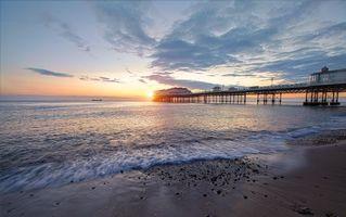 Бесплатные фото закат, море, берег, пляж, пирс, волны, пейзаж