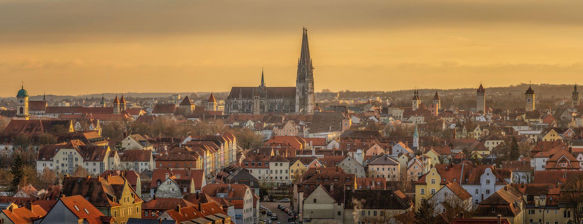 Фото бесплатно Регенсбург, Бавария, Германия, город