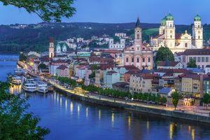 Бесплатные фото Пассау,Дунай,Бавария,Германия,река