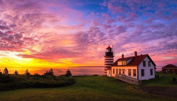 Фото бесплатно штат Мэн, Новая Англия, береговая линия