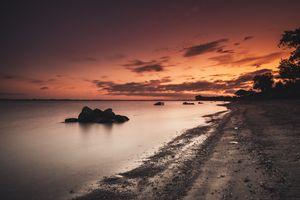 Фото бесплатно деревья, песок, облака
