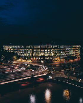Фото бесплатно Сингапур, здание, ночной город