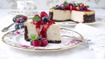 Бесплатные фото tort,chizkeik,iagody