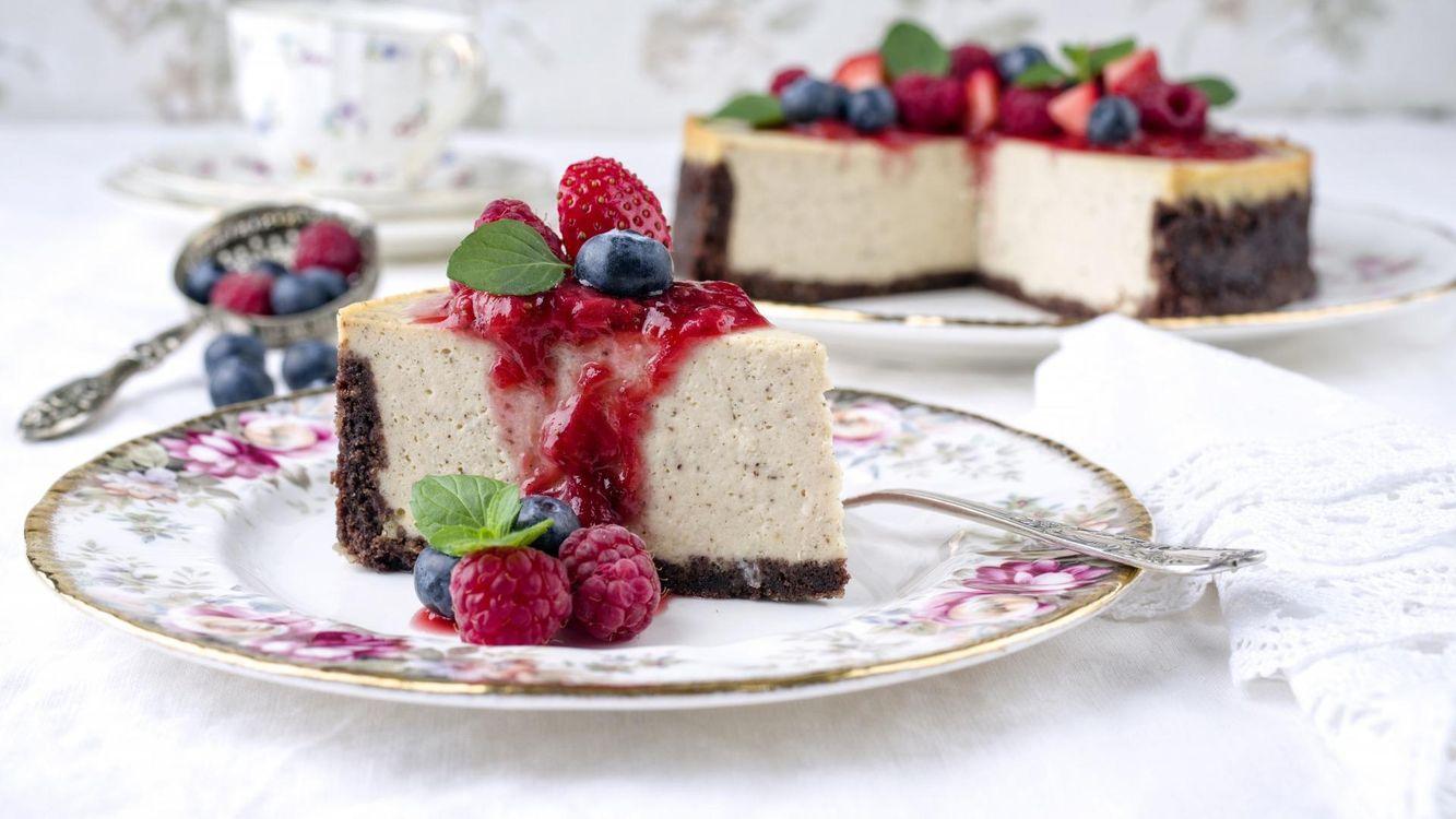 Фото бесплатно tort, chizkeik, iagody, еда