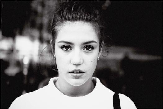 Photo free Adele Exarchopoulos, monochrome, black and white