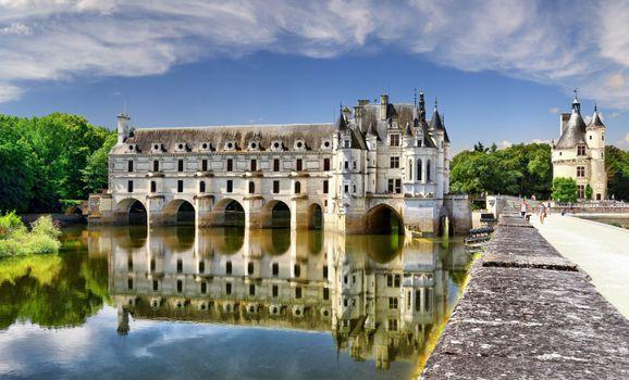 Заставки пруд, Франция, замки Франции
