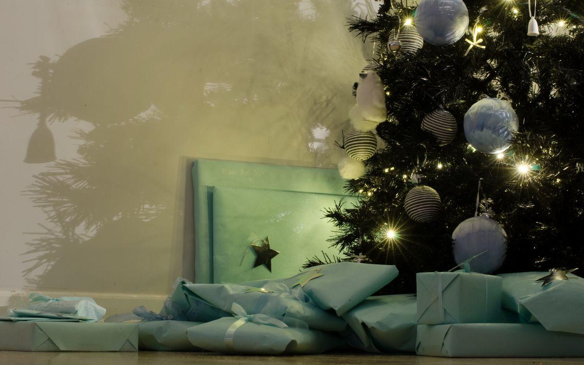 Фото бесплатно prazdnik, elka, podarki, новый год