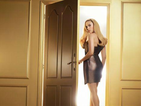 Photo free Scarlett Johansson, dress, room
